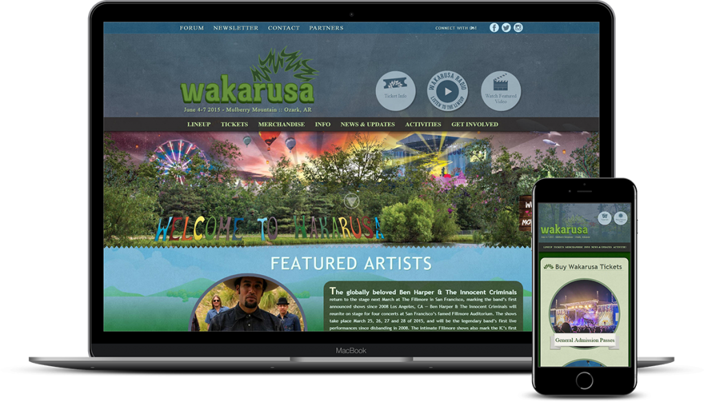 Custom Web Development for Wakarusa Music Festival