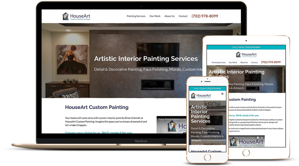 Mobile Web Design for Painting Contractor House Art Vegas