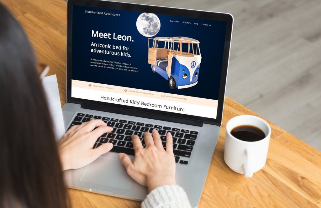 Web Design Digital Marketing for Leon Bus Bed by Slumberland Adventures