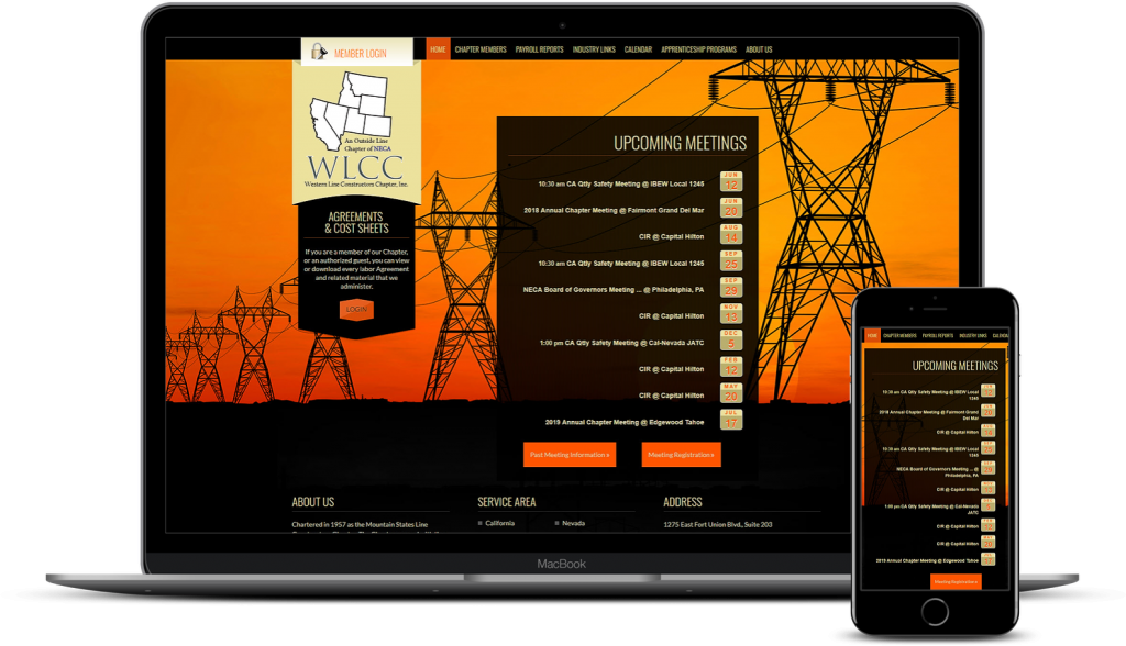 Web Design for Electrical Construction Members Website