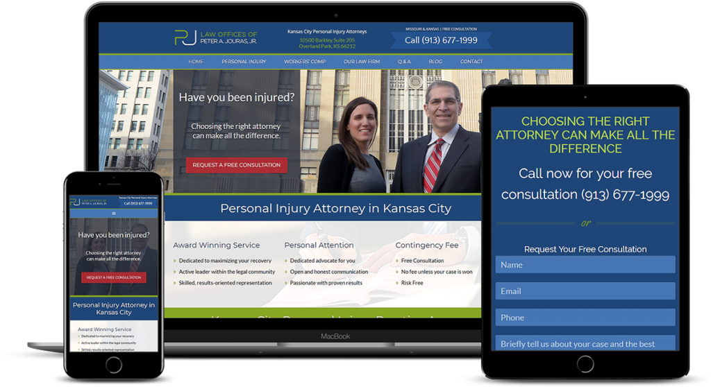 Web Design for Personal Injury Law Firm in Kansas City 2