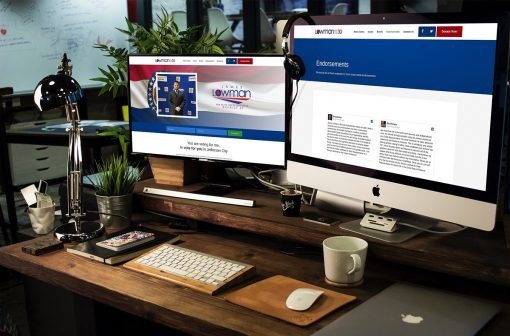 Web Design for Political Campaign and Fund Raising