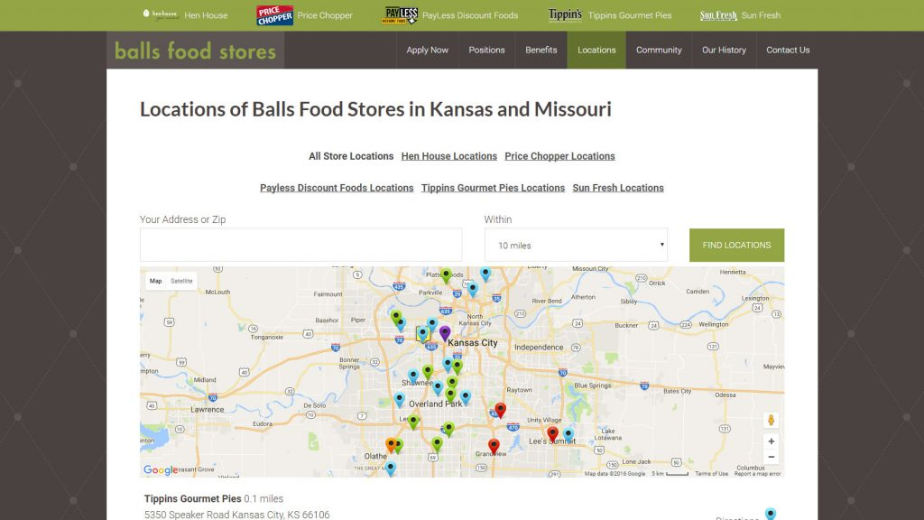 Google Maps Store Locations Page - Kansas City Interactive